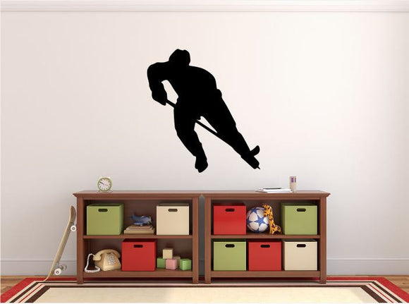 Hockey Player Wall Decal - 30