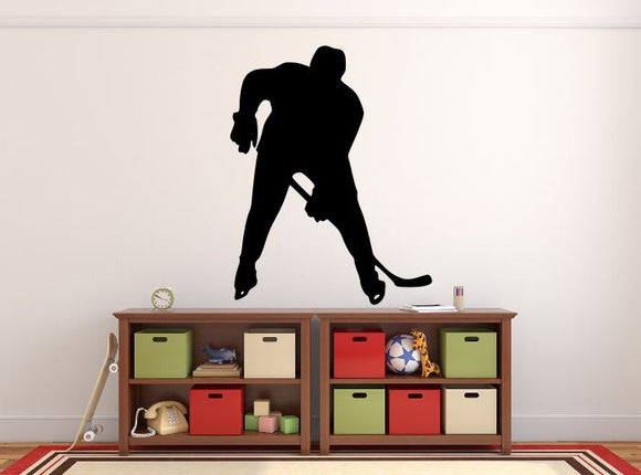 Hockey Player Wall Decal - 35
