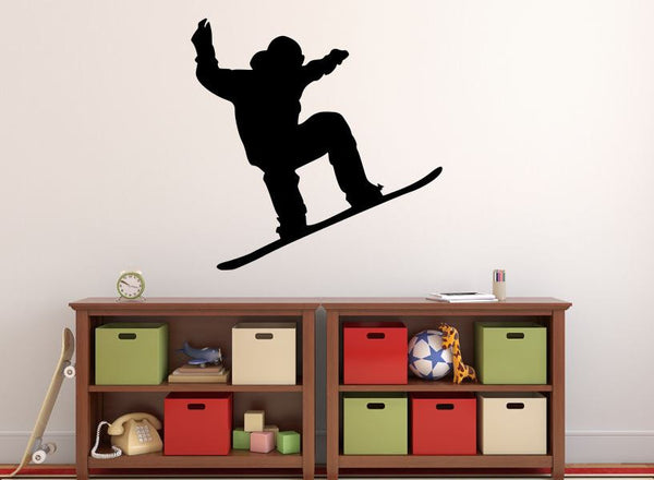 "Snowboarder Wall Decal - 27"" x 27"" Snowboarder Silhouette Vinyl Decal - Snowboarder 7"