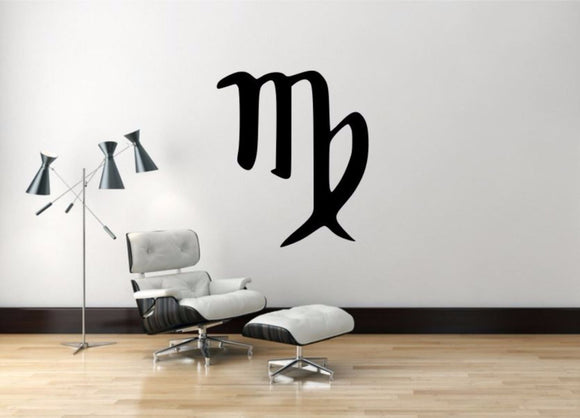 Virgo Sign Wall Decal, Virgo Zodiac Wall Sticker, Zodiac Symbol Wall Decor