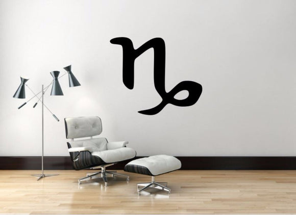 Capricorn Sign Wall Decal, Capricorn Zodiac Wall Sticker, Zodiac Symbol Wall Decor