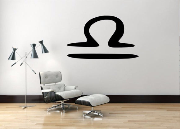Libra Sign Wall Decal, Libra Zodiac Wall Sticker, Zodiac Symbol Wall Decor