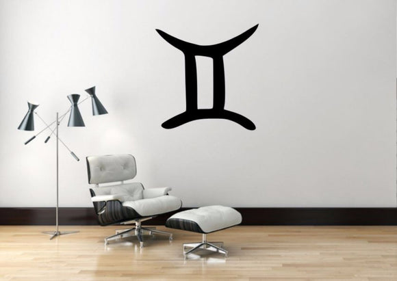 Gemini Sign Wall Decal, Gemini Zodiac Wall Sticker, Zodiac Symbol Wall Decor