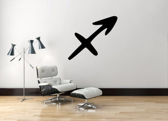 Sagittarius Sign Wall Decal, Sagittarius Zodiac Wall Sticker, Zodiac Symbol Wall Decor