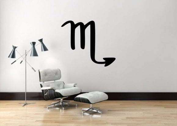 Scorpio Sign Wall Decal, Scorpio Zodiac Wall Sticker, Zodiac Symbol Wall Decor