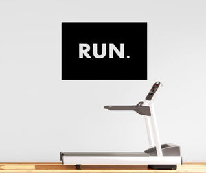 "Fitness Motivation Home Gym Wall Decal - ""RUN."" Box Decal"