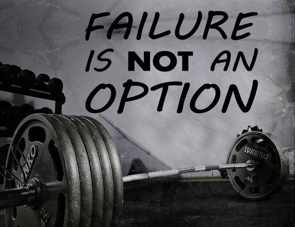 Gym Wall Decal For Home Gym Motivational Fitness - Failure Is Not An Option