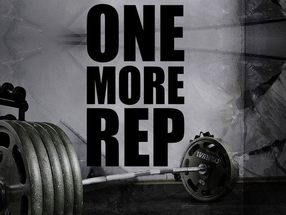 Gym Wall Decal For Home Gym Motivational Fitness - One More Rep