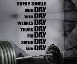 Gym Wall Decal For Home Gym Motivational Fitness - Every Single Day
