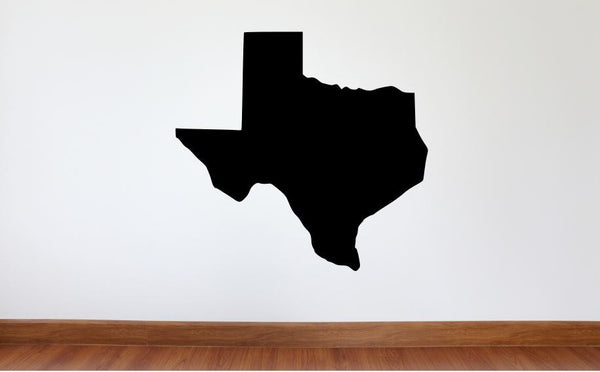 "Texas Wall Decal - 27"" x 28"" State of Texas Vinyl Wall Decal"