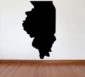 "Illinois Wall Decal - 46"" x 27"" State of Illinois Vinyl Wall Decal"