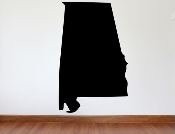 "Alabama Wall Decal - 43"" x 27"" State of Alabama Vinyl Wall Decal"