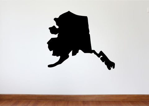 "Alaska Wall Decal - 27"" x 31"" State of Alaska Vinyl Wall Decal"