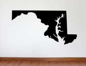 "Maryland Wall Decal - 27"" x 51"" State of Maryland Vinyl Wall Decal"