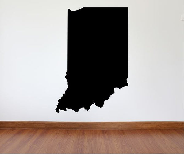 "Indiana Wall Decal - 39"" x 27"" State of Indiana Vinyl Wall Decal"