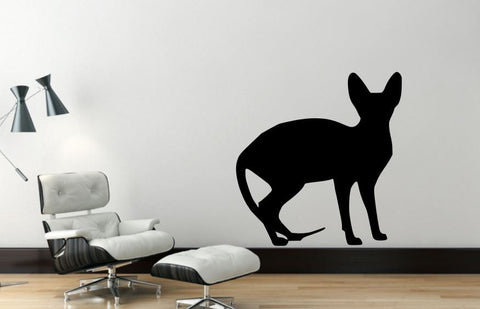 Wall Decal Sphynx Cat, Removable Vinyl Wall Decor SC3