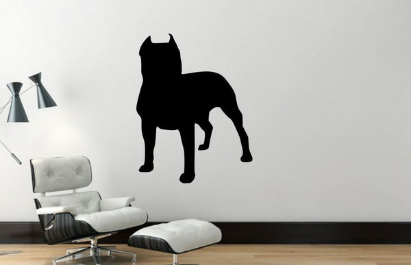 Wall Decal, Pit Bull, Removable Vinyl Wall Decor PB9