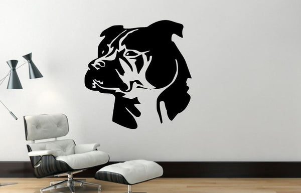 Wall Decal, Pit Bull, Removable Vinyl Wall Decor PB7