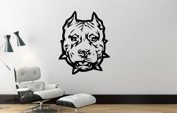 Wall Decal, Pit Bull, Removable Vinyl Wall Decor PB3