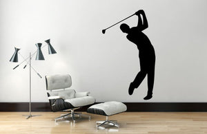 "Golf Player Wall Decal - 45"" x 27"" Golf Player Silhouette Vinyl Decal - Golf Player 8"