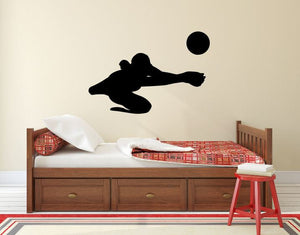 "Volleyball Player Wall Decal - 27"" x 40"" Volleyball Player Silhouette Vinyl Decal - Volleyball Player 7"