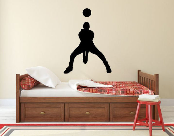 "Volleyball Player Wall Decal - 37"" x 27"" Volleyball Player Silhouette Vinyl Decal - Volleyball Player 8"