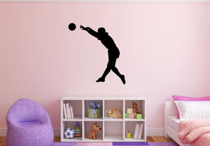 "Girl Soccer Player Wall Decal - 29"" x 27"" Girl Soccer Player Silhouette Vinyl Decal - Girl Soccer Player 7"