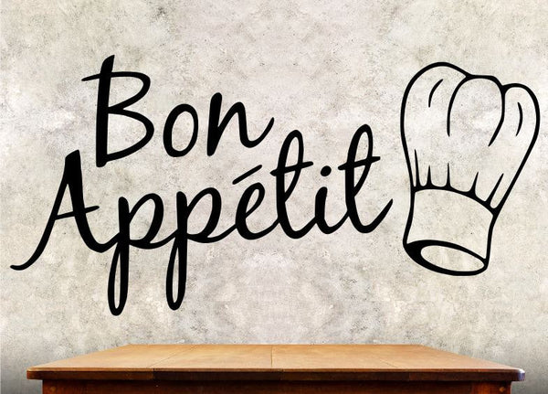Kitchen Wall Decal - Bon Appetit - Kitchen Wall Quote ba1