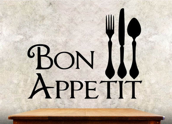 Kitchen Wall Decal - Bon Appetit - Kitchen Wall Quote ba4