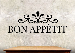 Kitchen Wall Decal - Bon Appetit - Kitchen Wall Quote ba2