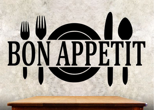 Kitchen Wall Decal - Bon Appetit - Kitchen Wall Quote ba3