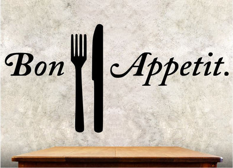 Kitchen Wall Decal - Bon Appetit - Kitchen Wall Quote ba5