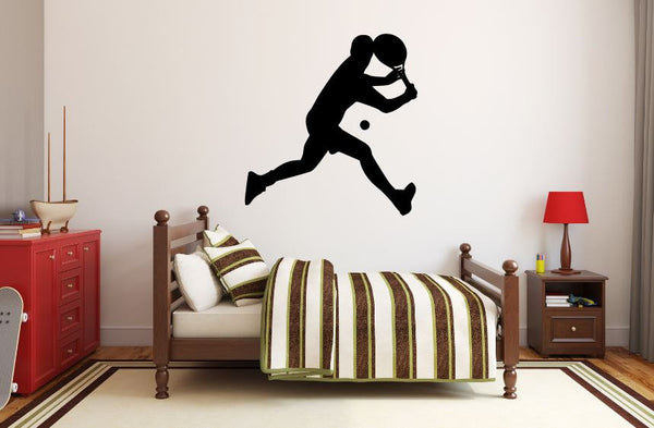 "Tennis Player Wall Decal - 29"" x 27"" Male Tennis Silhouette Vinyl Decal - Male Tennis Player 5"