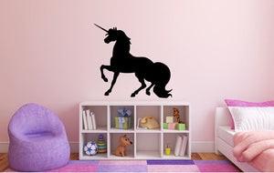 "Unicorn Wall Decal - 27"" x 28"" Unicorn Silhouette Vinyl Decal - Unicorn 2"