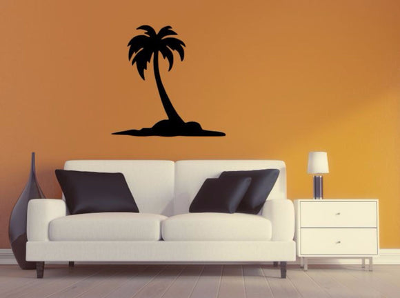 Palm Tree Wall Decal - Palm Tree Silhouette Vinyl Wall Sticker Palm Tree 3