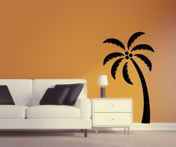 Palm Tree Wall Decal - Palm Tree Silhouette Vinyl Wall Sticker Palm Tree 4