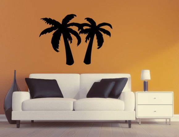 Palm Tree Wall Decal - Palm Tree Silhouette Vinyl Wall Sticker Palm Tree 8