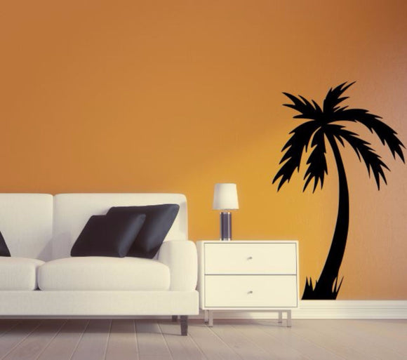 Palm Tree Wall Decal - Palm Tree Silhouette Vinyl Wall Sticker Palm Tree 12