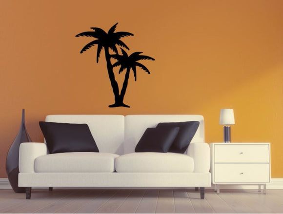 Palm Tree Wall Decal - Palm Tree Silhouette Vinyl Wall Sticker Palm Tree 11