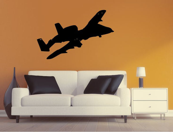 Military Plane Wall Decal - A10 Thunderbolt Wall Silhouette Sticker - Airplane 1