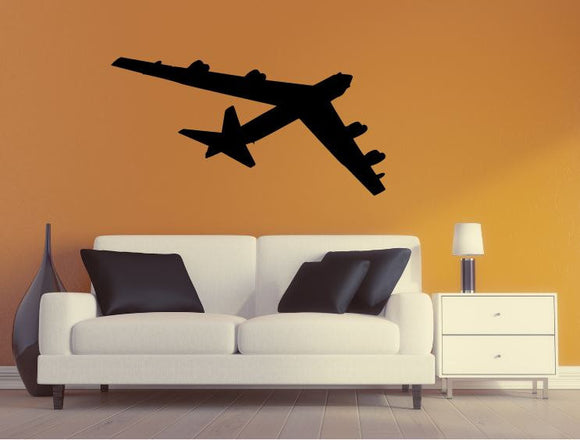 Military Plane Wall Decal - B52 Stratofortress Wall Silhouette Sticker - Airplane 4