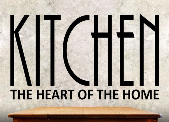 Kitchen Wall Decal - Kitchen The Heart Of The Home - Wall Quote KQ1