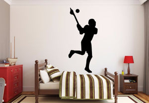 Lacrosse Player Wall Decal - Lacrosse Player Silhouette Vinyl Decal - Lacrosse Player 5