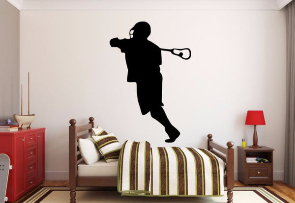 Lacrosse Player Wall Decal - Lacrosse Player Silhouette Vinyl Decal - Lacrosse Player 6