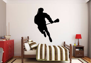 Lacrosse Player Wall Decal - Lacrosse Player Silhouette Vinyl Decal - Lacrosse Player 7