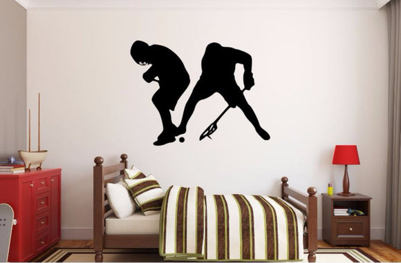 Lacrosse Player Wall Decal - Lacrosse Player Silhouette Vinyl Decal - Lacrosse Player 11