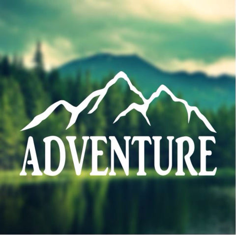 Decal - Adventure - Mountains Decal, Car Decal, Laptop Decal, Macbook Decal, Ipad Decal