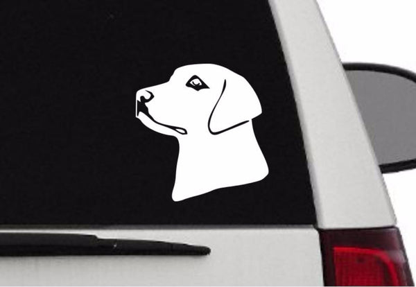 Decal - Labrador Decal For Car, Laptop, Macbook, Ipad - Lab Sticker L3