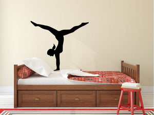"Gymnastics Wall Decal - 27"" x 32"" Gymnast Silhouette Vinyl Decal - Gymnastics 2"