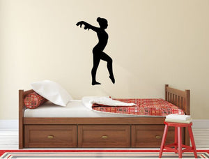 "Gymnastics Wall Decal - 27"" x 15"" Gymnast Silhouette Vinyl Decal - Gymnastics 5"